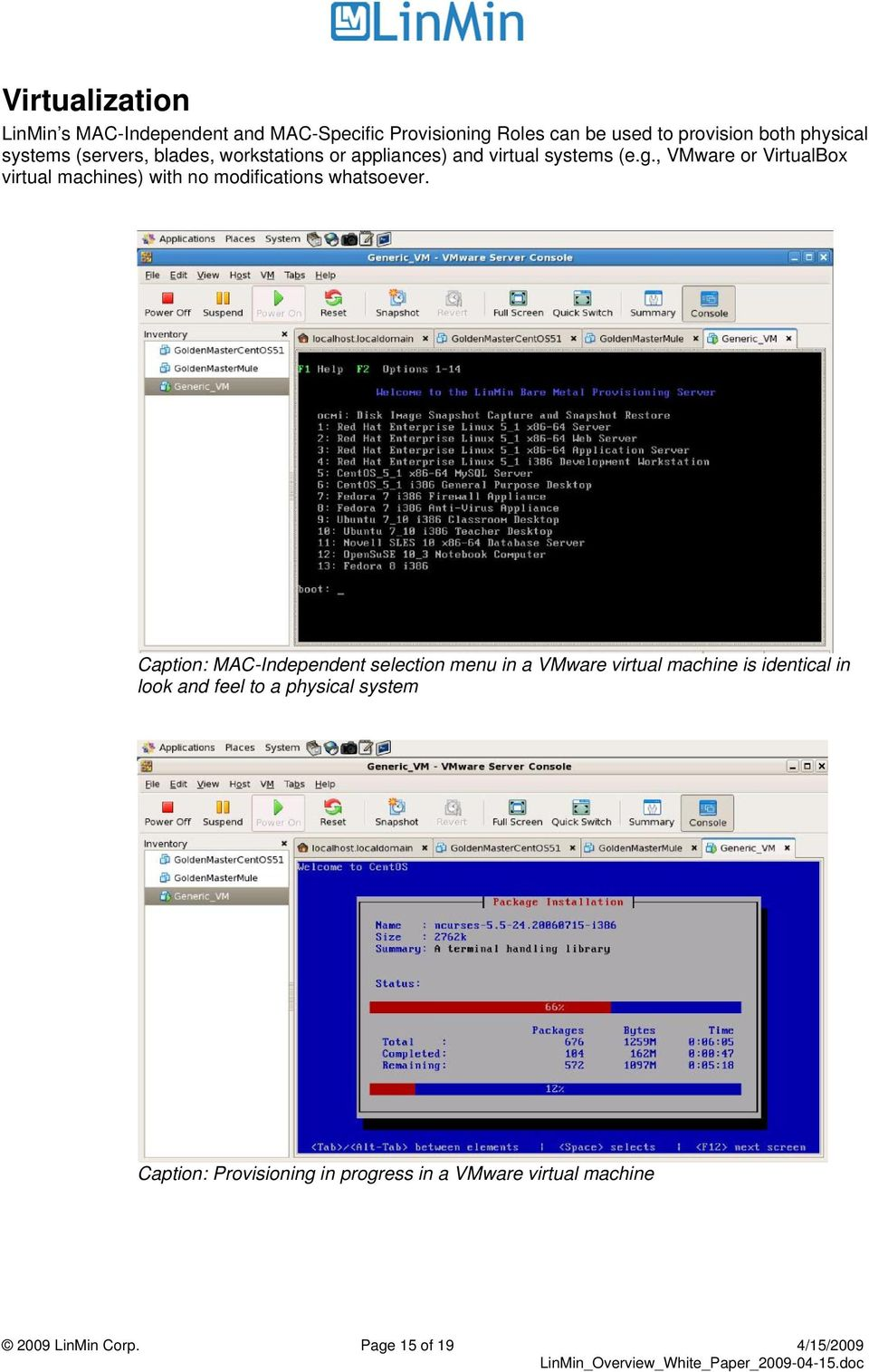 , VMware or VirtualBox virtual machines) with no modifications whatsoever.