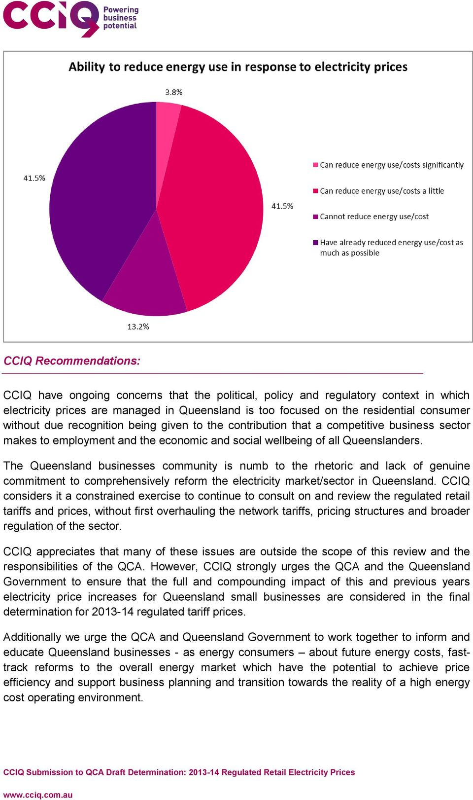 The Queensland businesses community is numb to the rhetoric and lack of genuine commitment to comprehensively reform the electricity market/sector in Queensland.