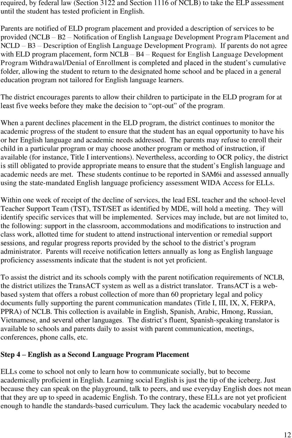English Language Development Program).