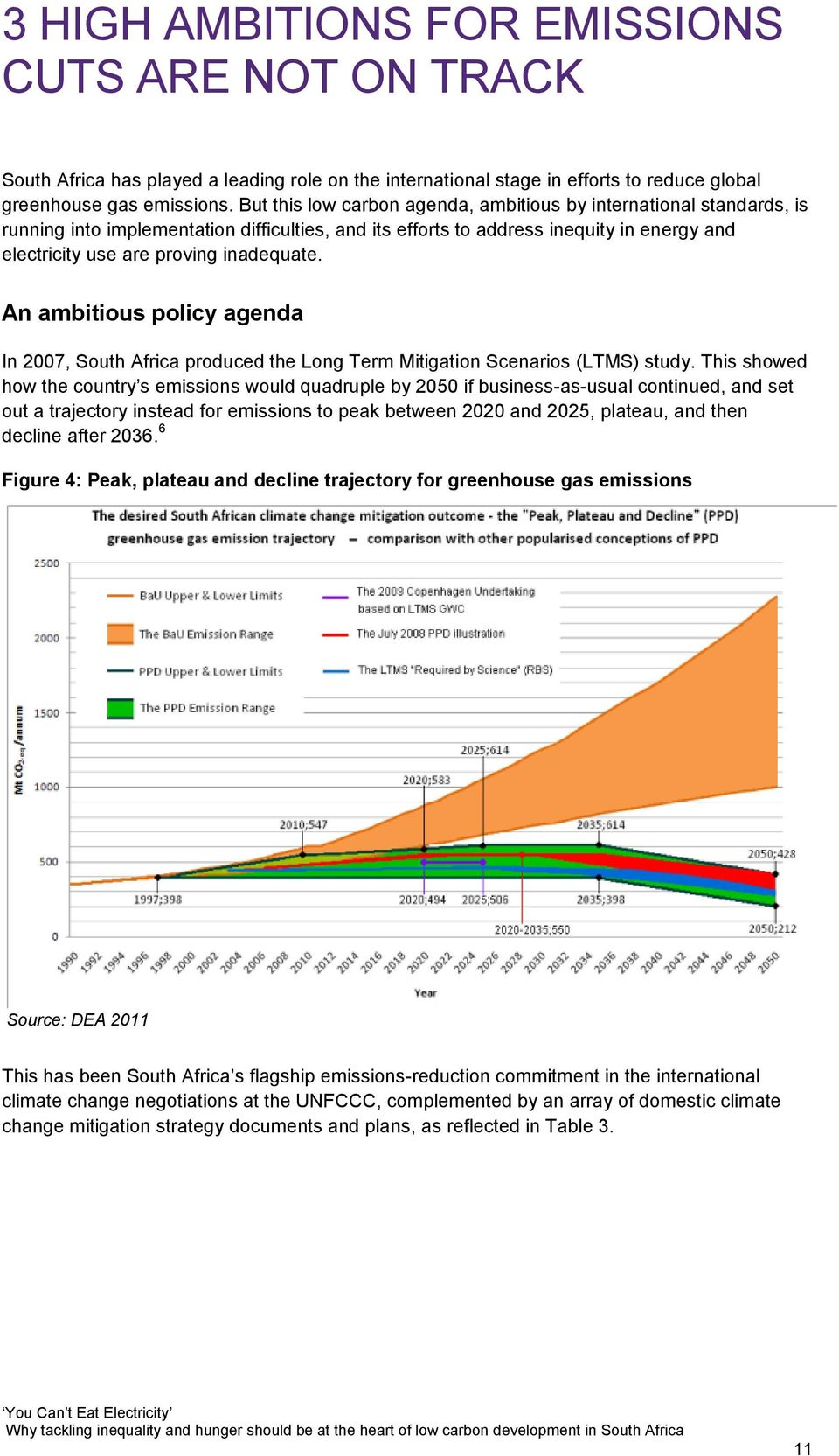 An ambitious policy agenda In 2007, South Africa produced the Long Term Mitigation Scenarios (LTMS) study.