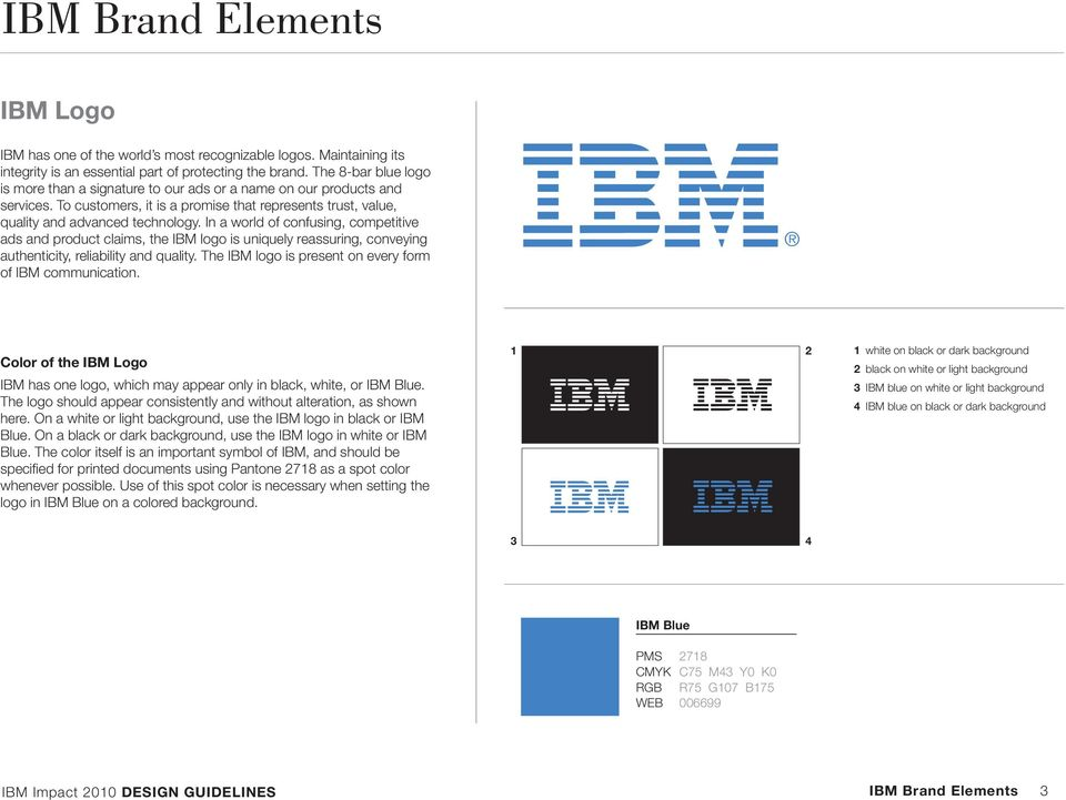 In a world of confusing, competitive ads and product claims, the IBM logo is uniquely reassuring, conveying authenticity, reliability and quality.
