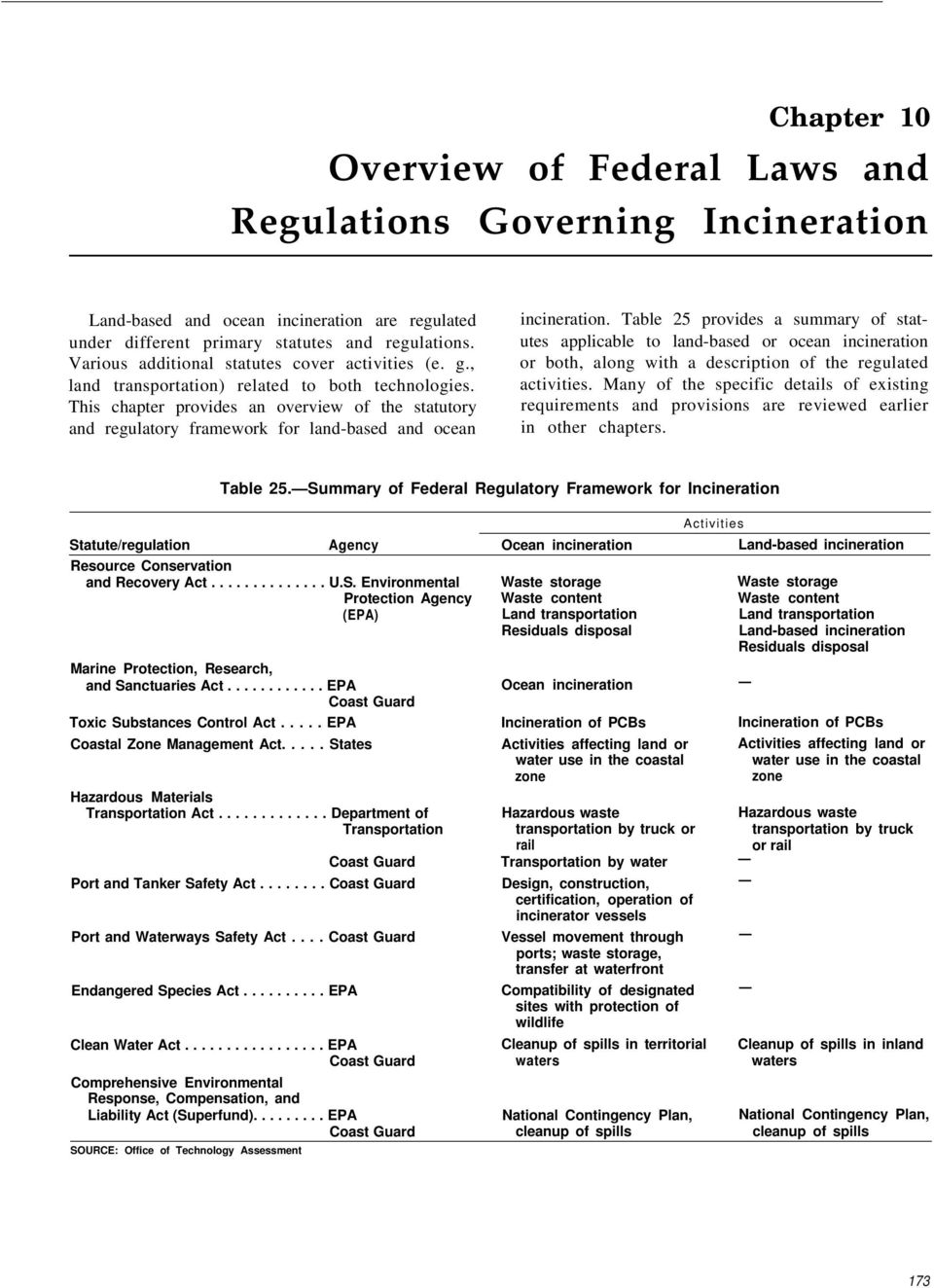 Many of the specific details of existing requirements and provisions are reviewed earlier in other chapters.