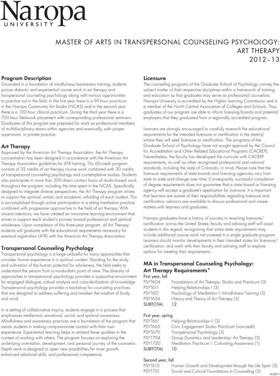 Master Of Arts In Transpersonal Counseling Psychology Art Therapy Pdf