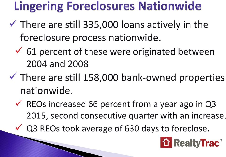 bank-owned properties nationwide.