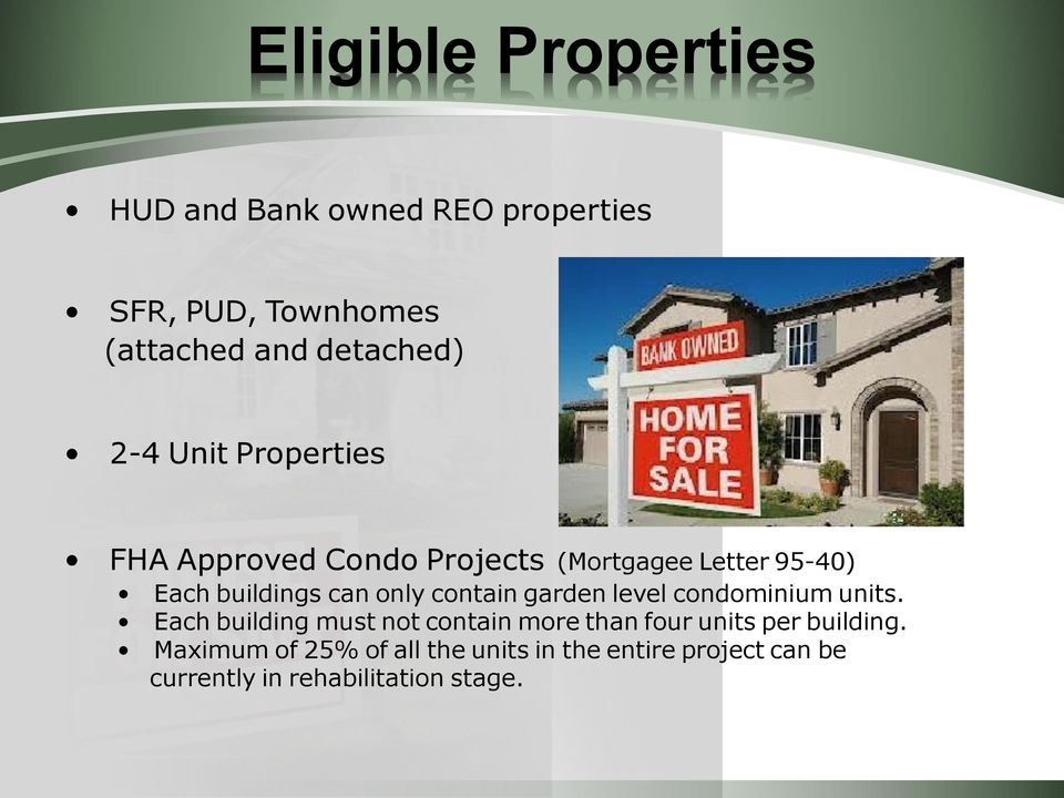 contain garden level condominium units.