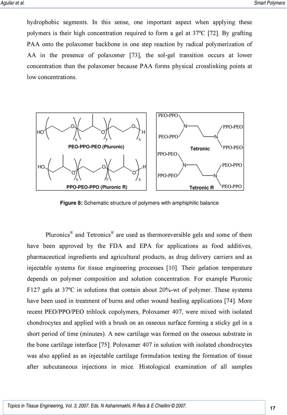 polaxomer because PAA forms physical crosslinking points at low concentrations.