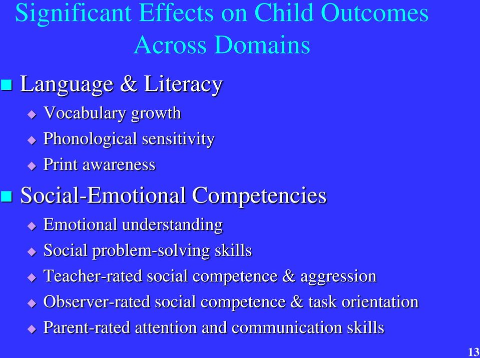 understanding Social problem-solving skills Teacher-rated social competence & aggression
