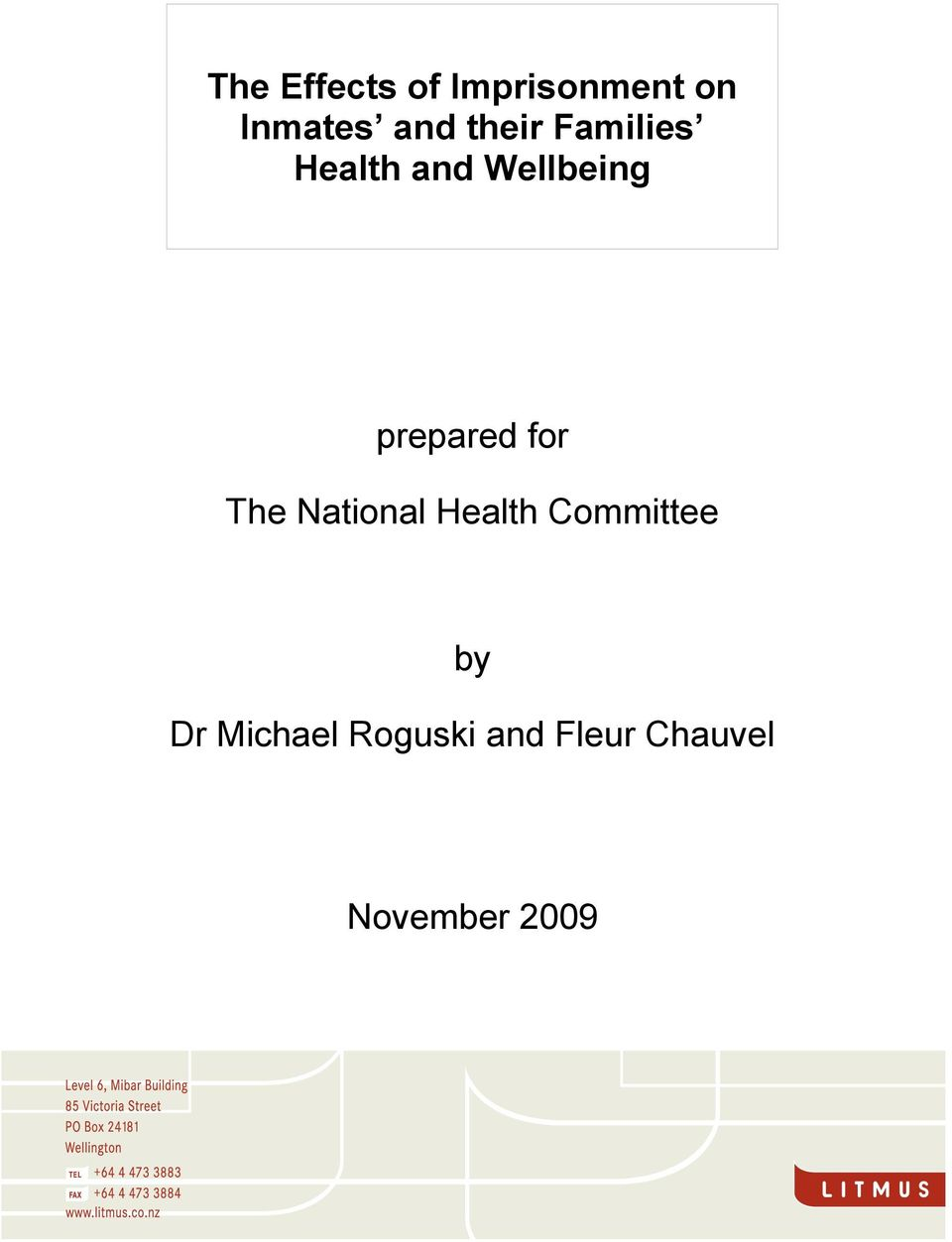 prepared for The National Health Committee