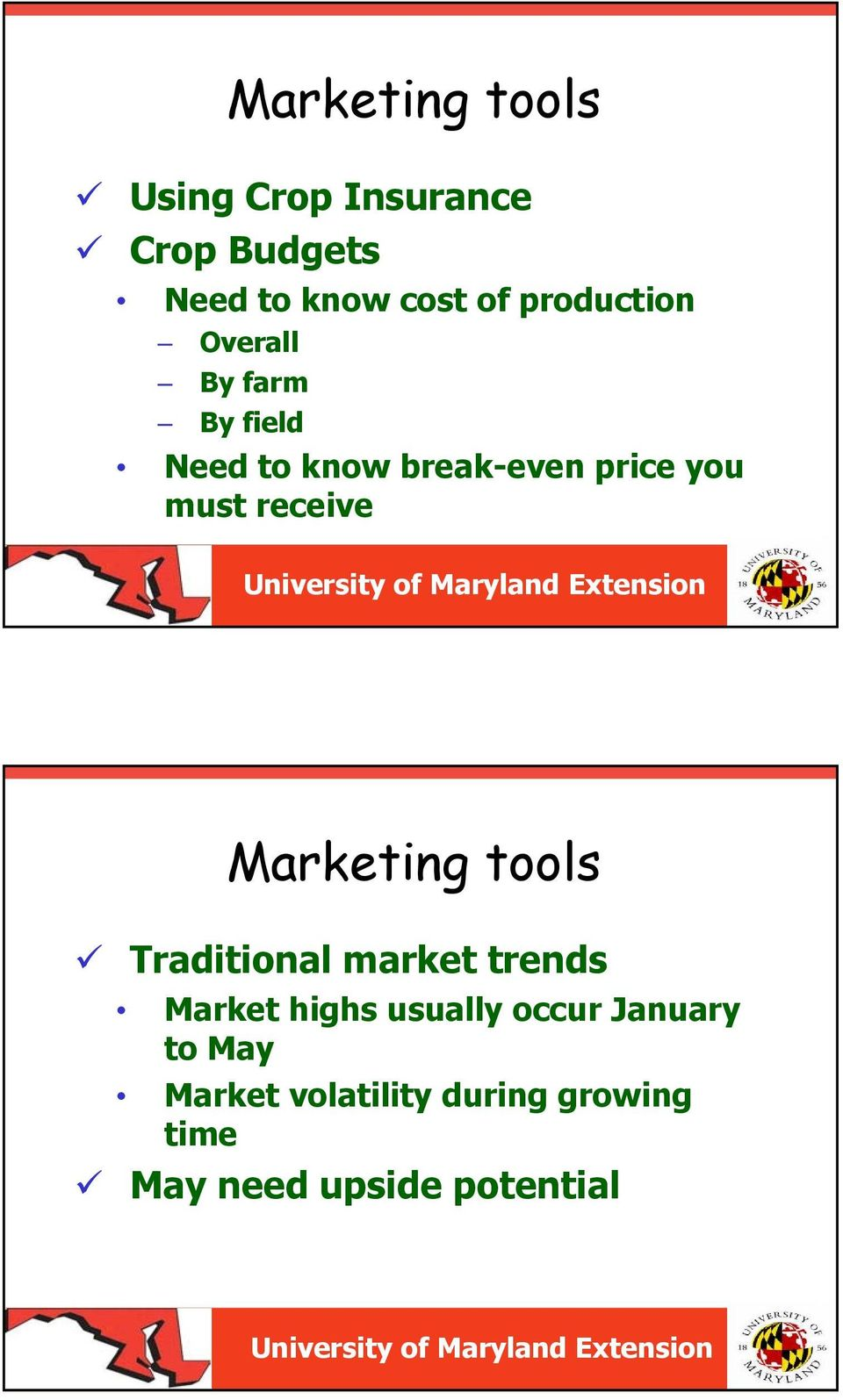 receive Marketing tools Traditional market trends Market highs usually