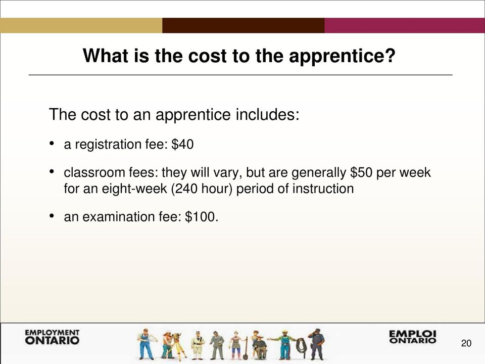 classroom fees: they will vary, but are generally $50 per
