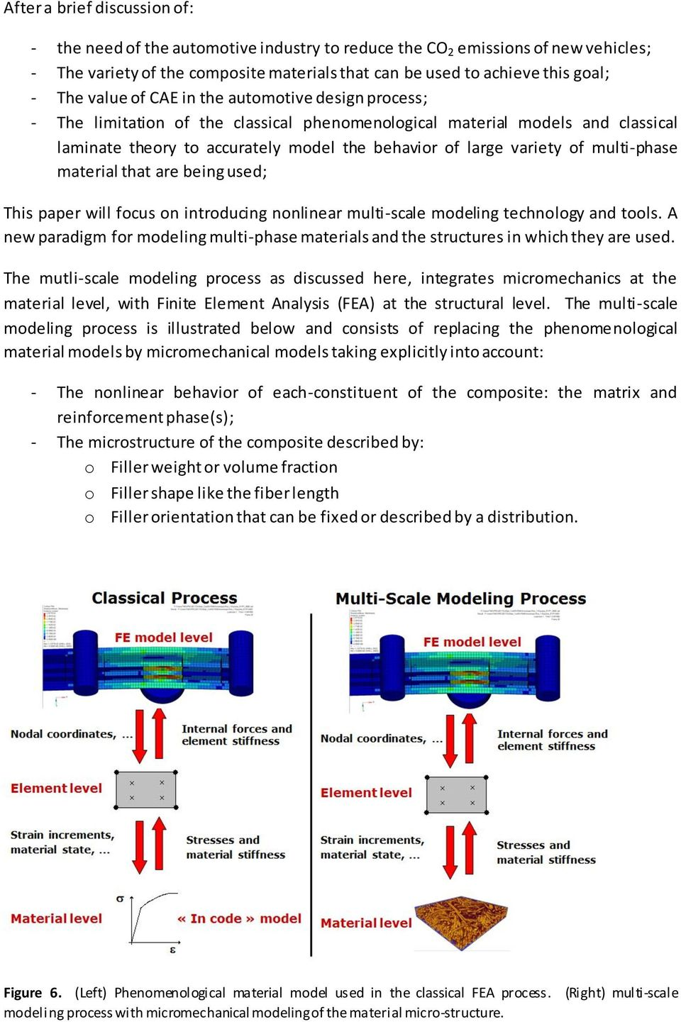 multi-phase material that are being used; This paper will focus on introducing nonlinear multi-scale modeling technology and tools.