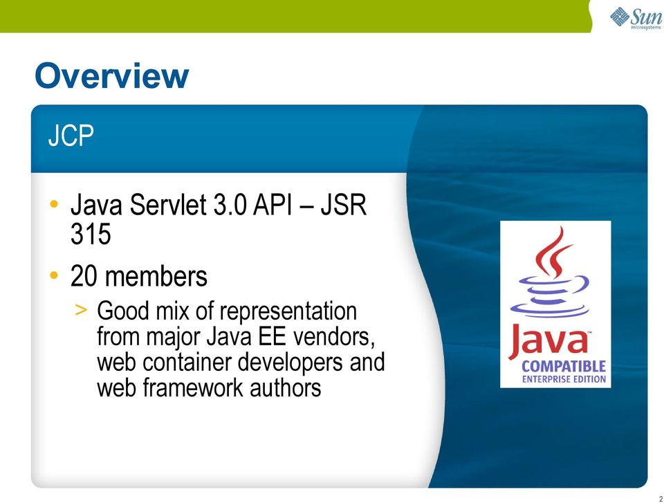 representation from major Java EE