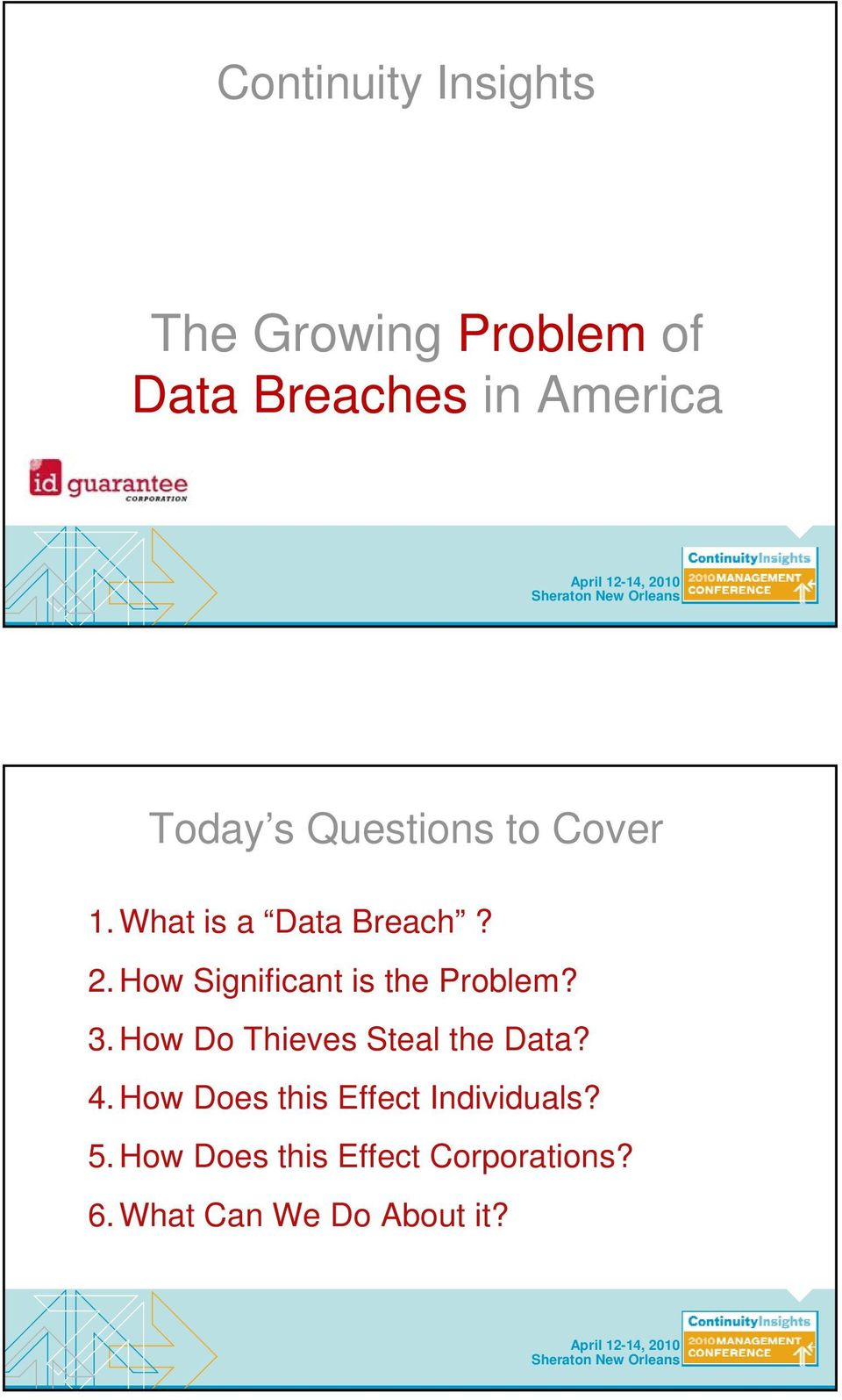 How Significant is the Problem? 3. How Do Thieves Steal the Data? 4.