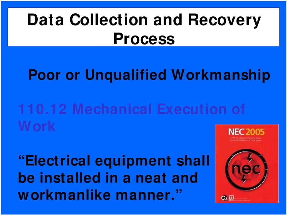 12 Mechanical Execution of Work Electrical