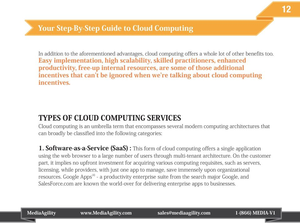 cloud computing incentives.