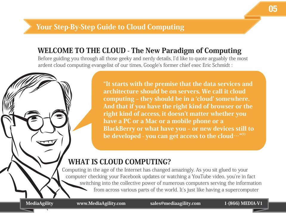 We call it cloud computing they should be in a cloud somewhere.