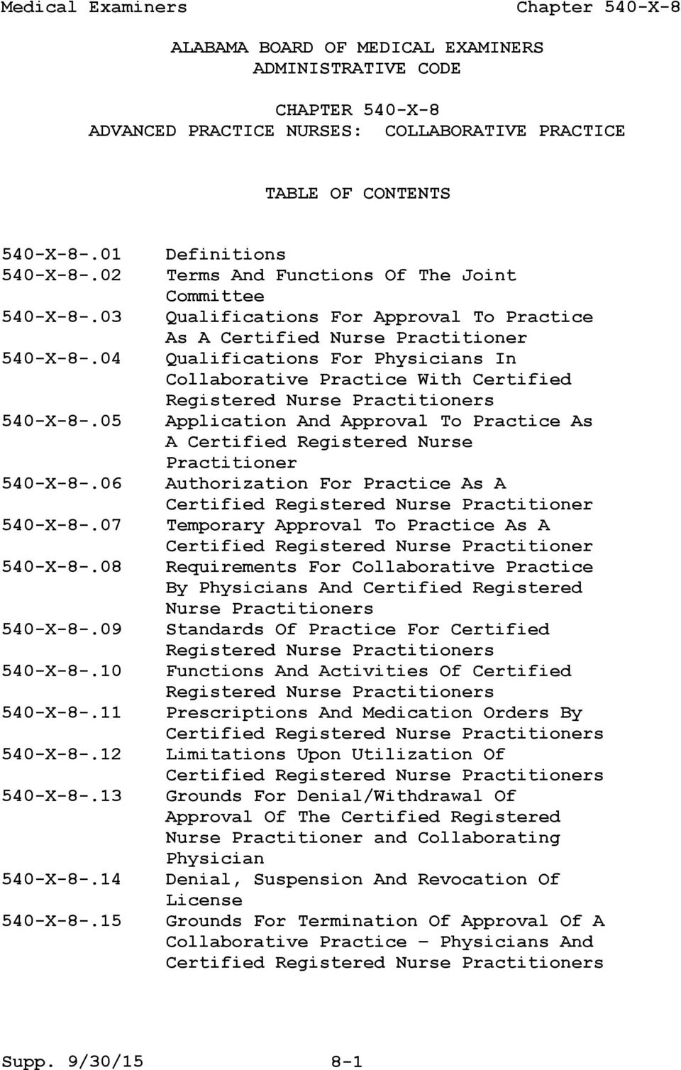 15 Definitions Terms And Functions Of The Joint Committee Qualifications For Approval To Practice As A Certified Nurse Practitioner Qualifications For Physicians In Collaborative Practice With