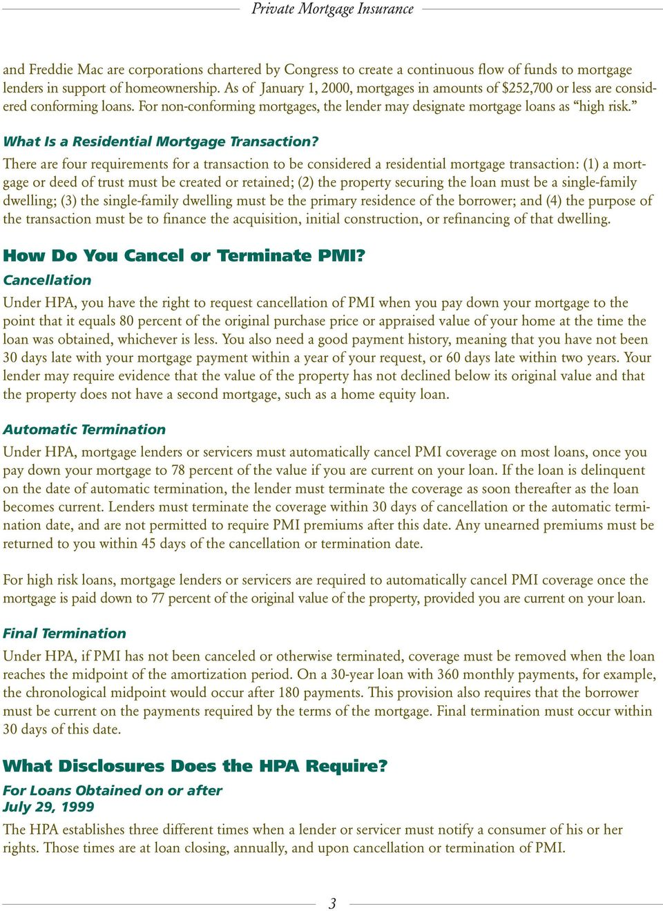 What Is a Residential Mortgage Transaction?