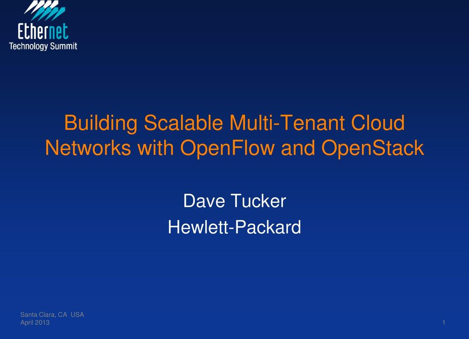 with OpenFlow and OpenStack