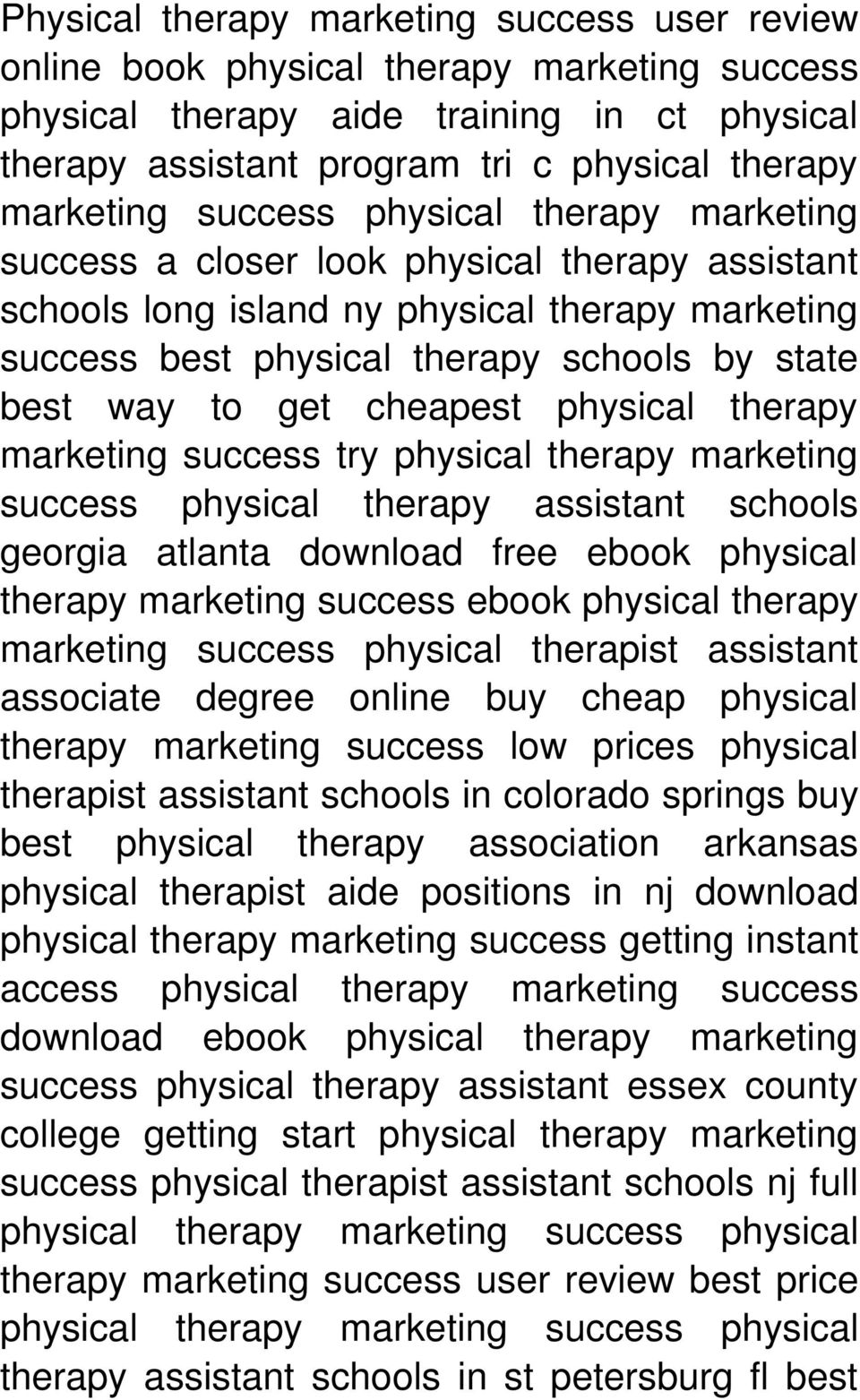 cheapest physical therapy marketing success try physical therapy marketing success physical therapy assistant schools georgia atlanta download free ebook physical therapy marketing success ebook