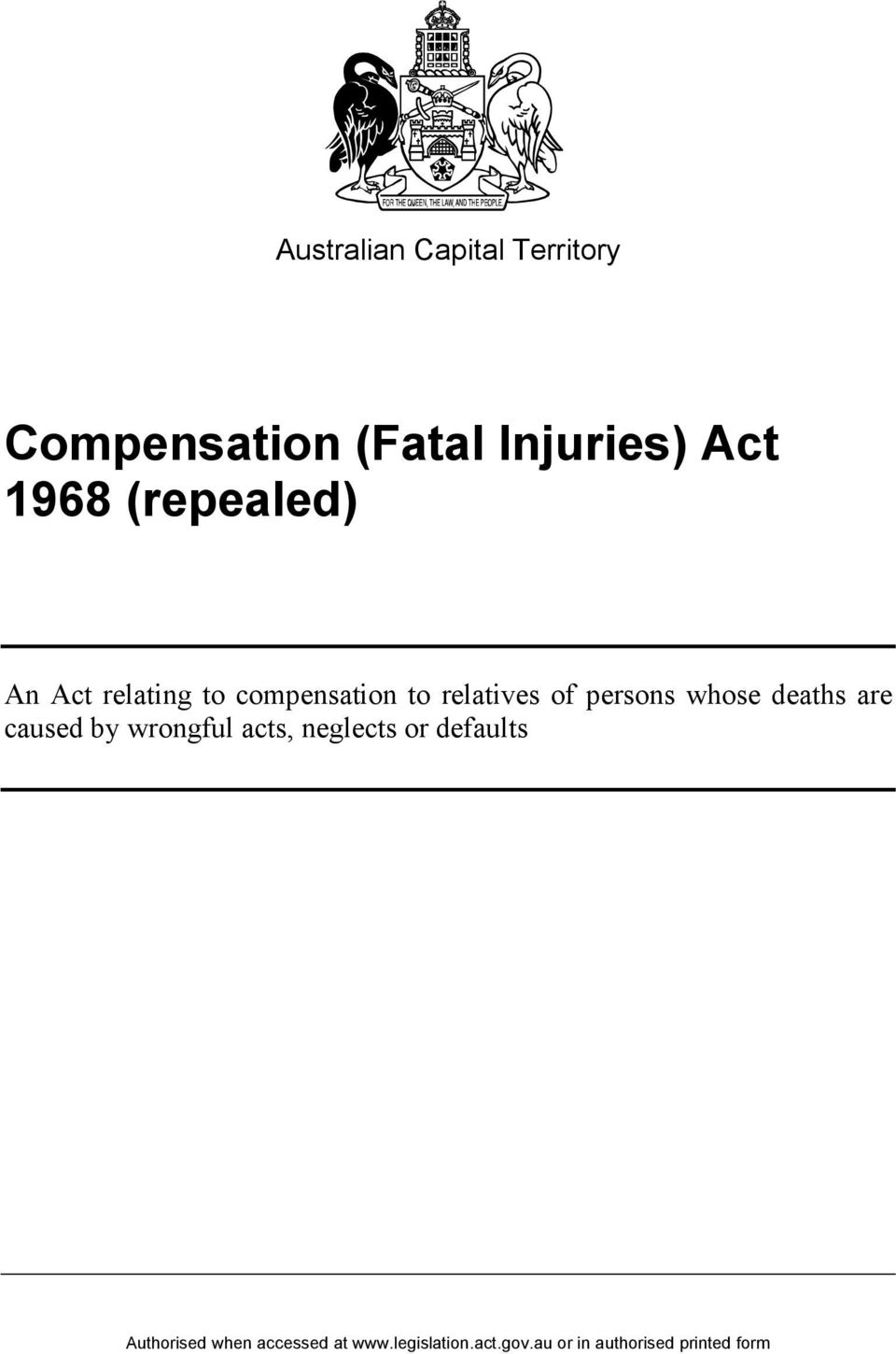 compensation to relatives of persons whose deaths