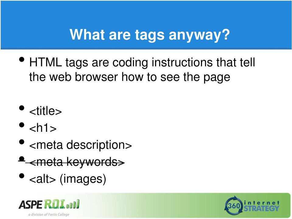 tell the web browser how to see the page