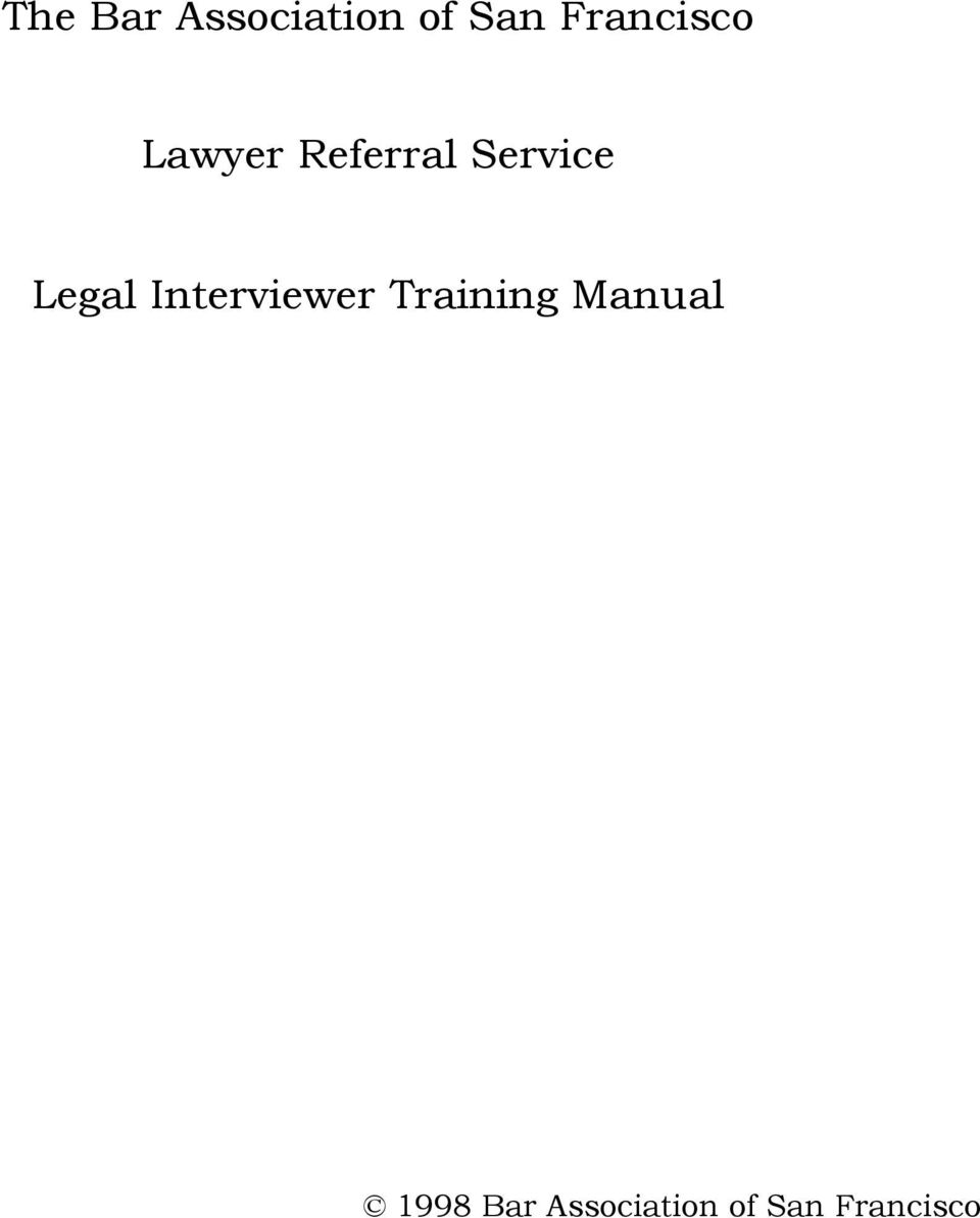 Service Legal Interviewer
