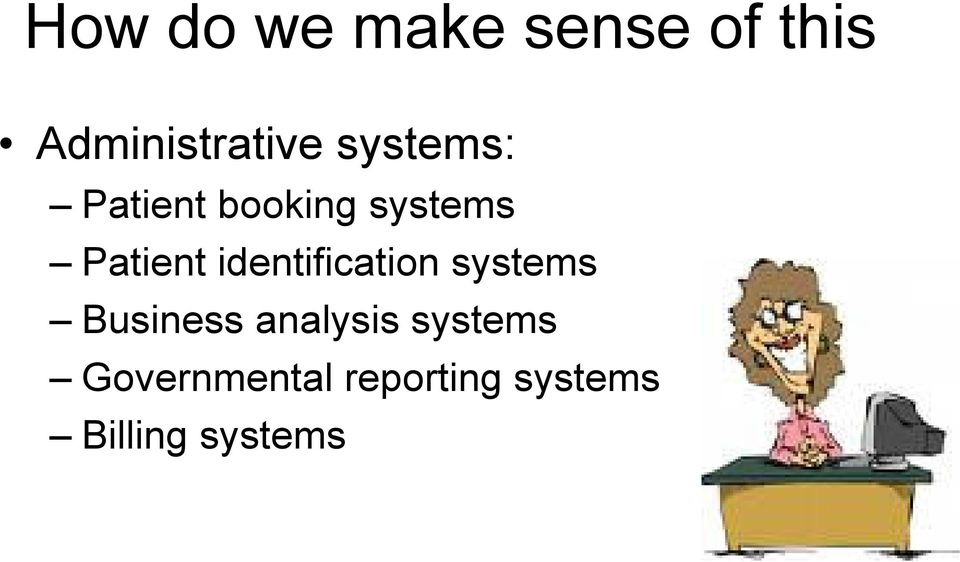 identification systems Business analysis