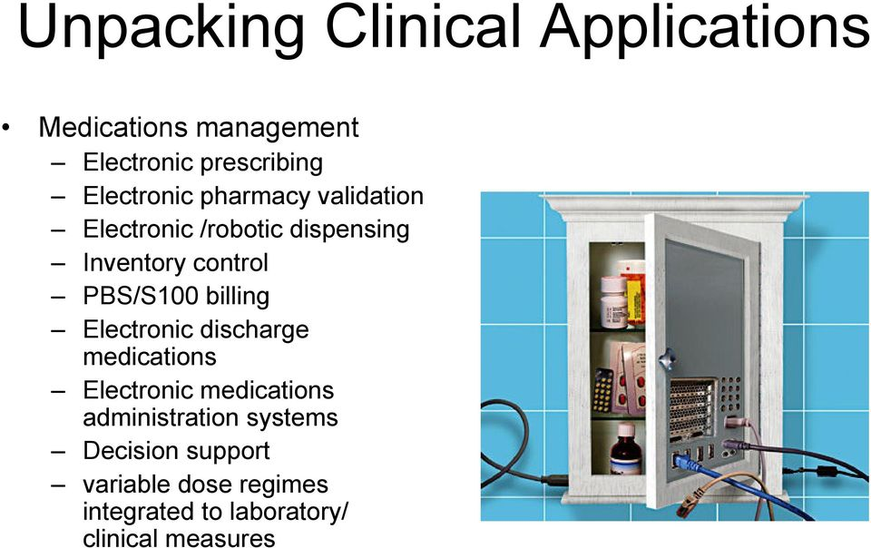 PBS/S100 billing Electronic discharge medications Electronic medications