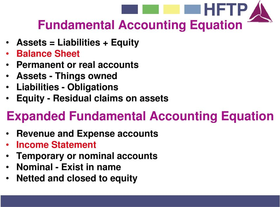 on assets Expanded Fundamental Accounting Equation Revenue and Expense accounts Income