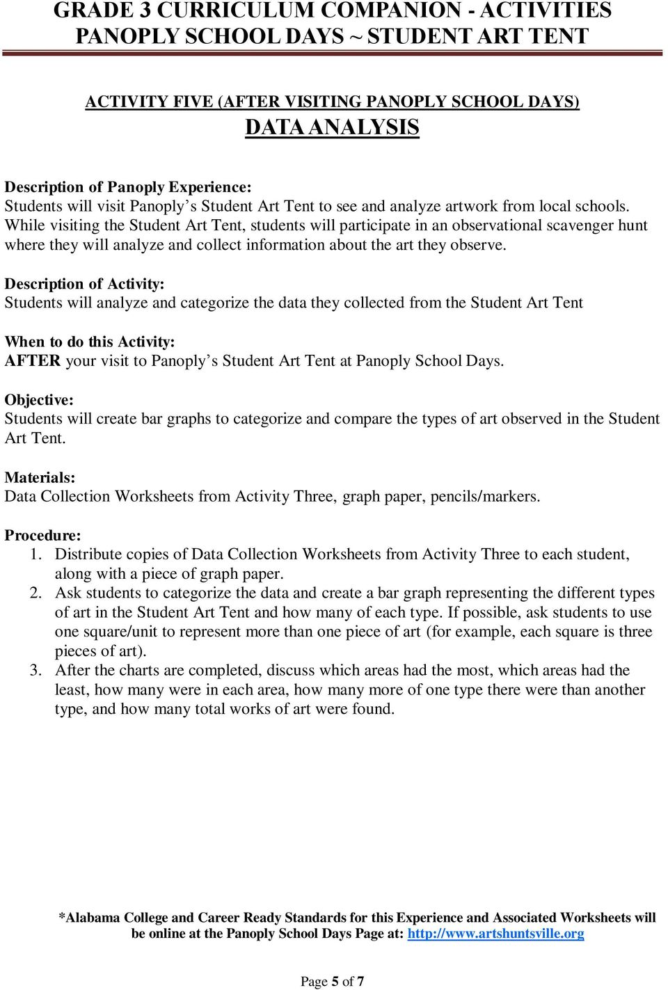 Data Collection Worksheets from Activity Three, graph paper, pencils/markers. 1. Distribute copies of Data Collection Worksheets from Activity Three to each student, along with a piece of graph paper.
