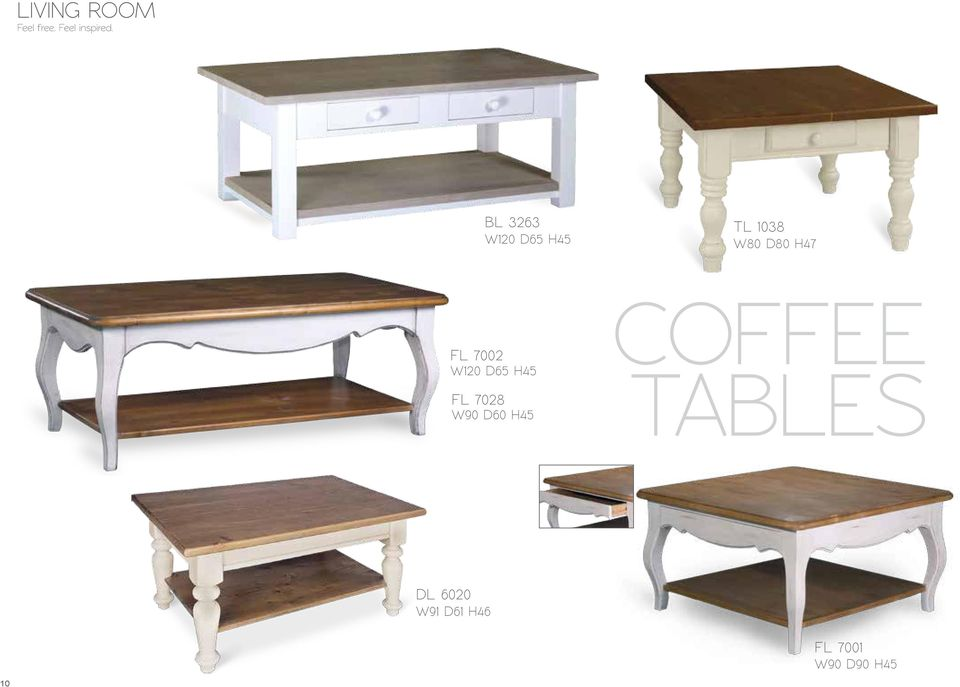 FL 7028 W90 D60 H45 COFFEE TABLES DL