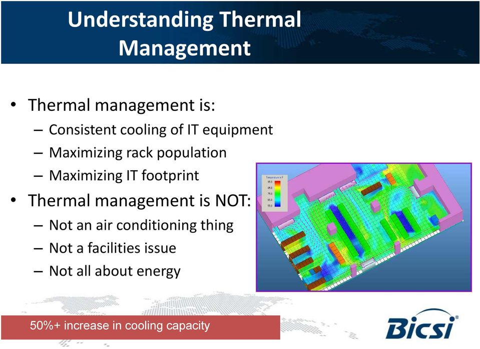 footprint Thermal management is NOT: Not an air conditioning thing