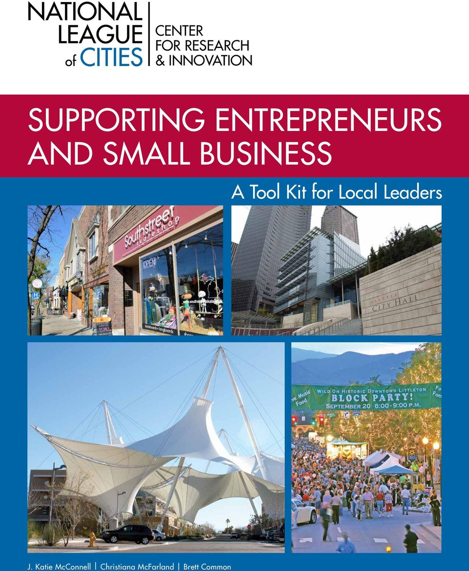 BusinESS A Tool Kit for Local Leaders J.
