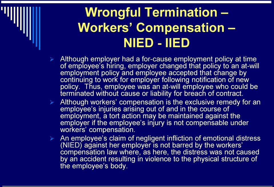 Thus, employee was an at-will employee who could be terminated without cause or liability for breach of contract.