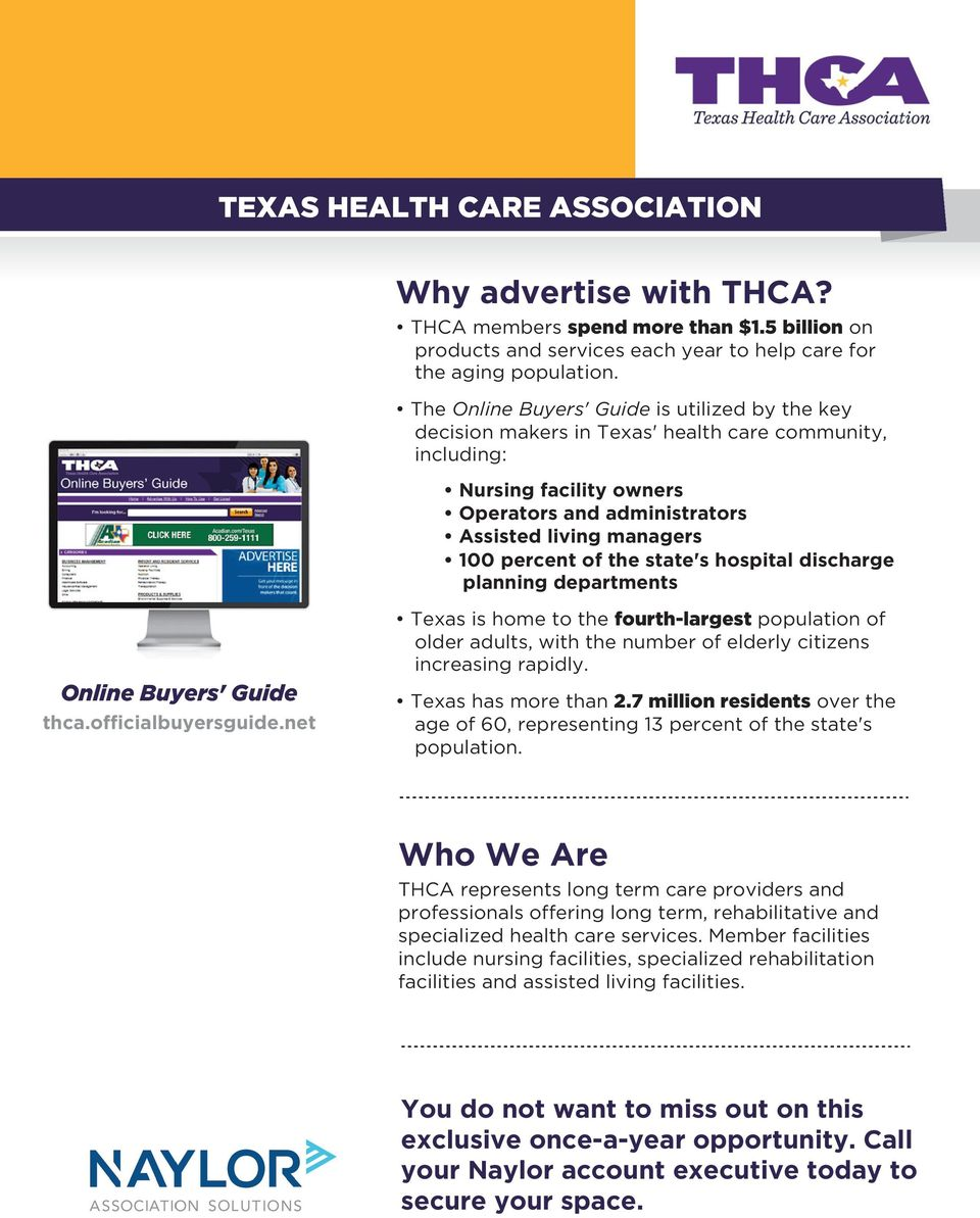 of the state's hospital discharge planning departments Online Buyers' Guide thca.officialbuyersguide.