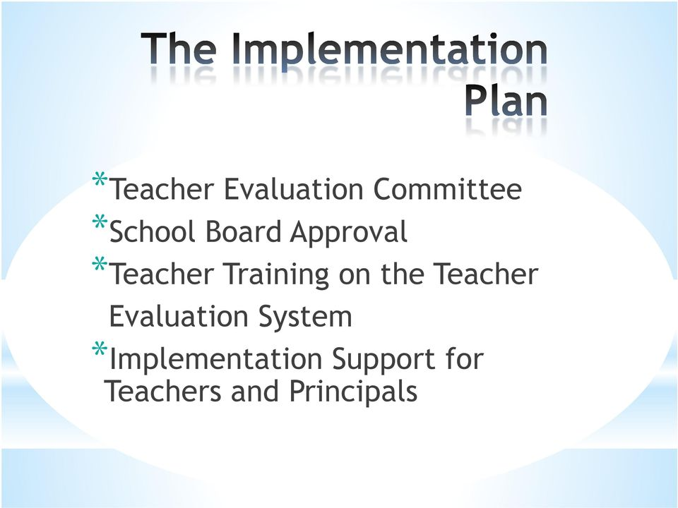 the Teacher Evaluation System