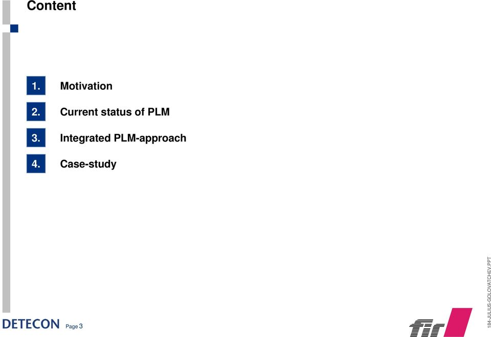 Integrated PLM-approach