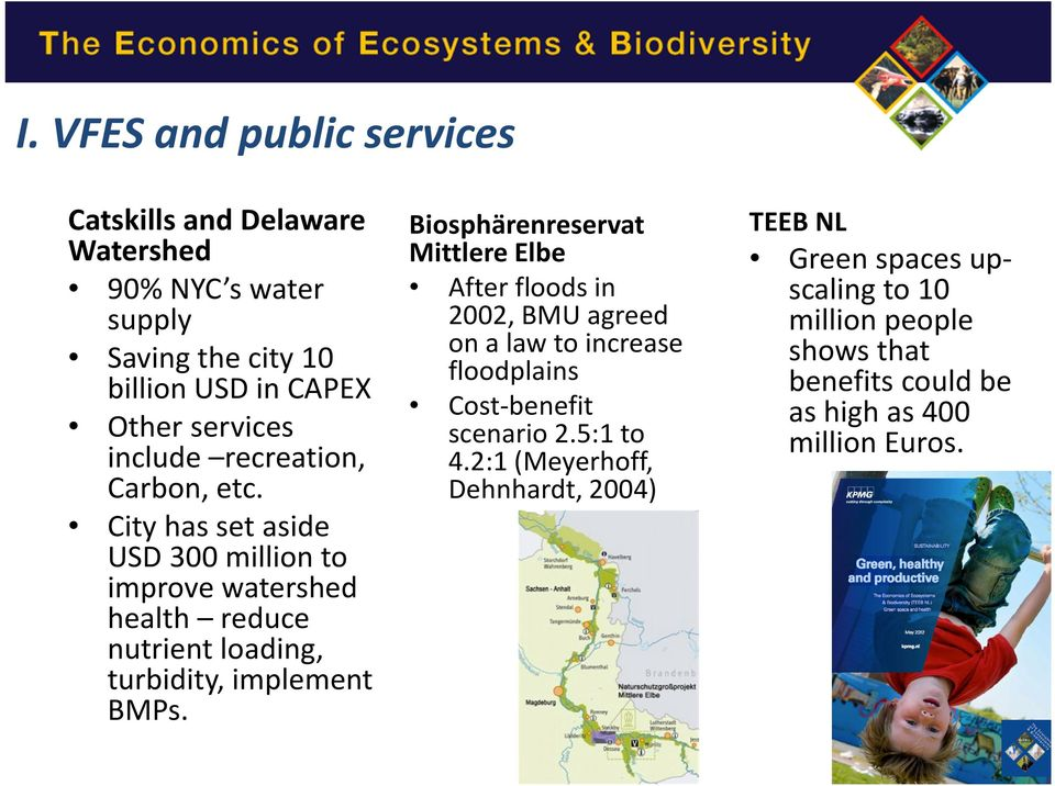City has set aside USD 300 million to improve watershed health reduce nutrient loading, turbidity, implement BMPs.