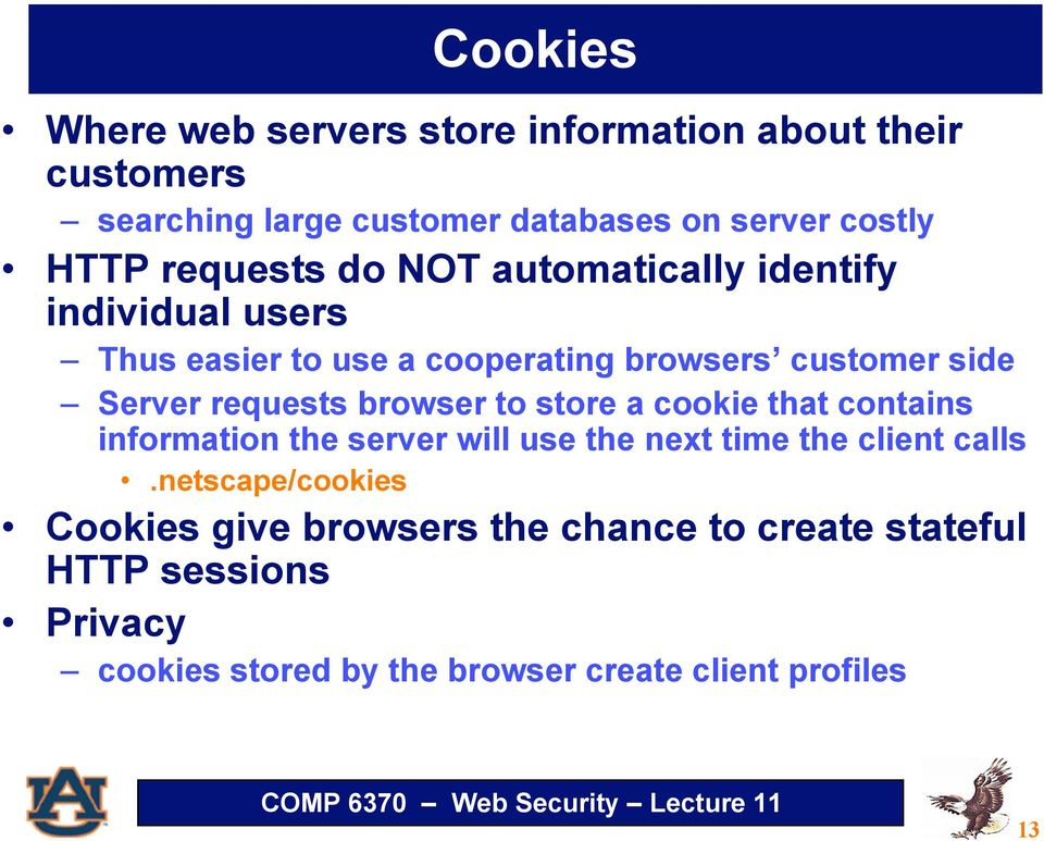 requests browser to store a cookie that contains information the server will use the next time the client calls.