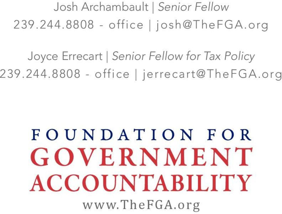 org Joyce Errecart Senior Fellow for Tax