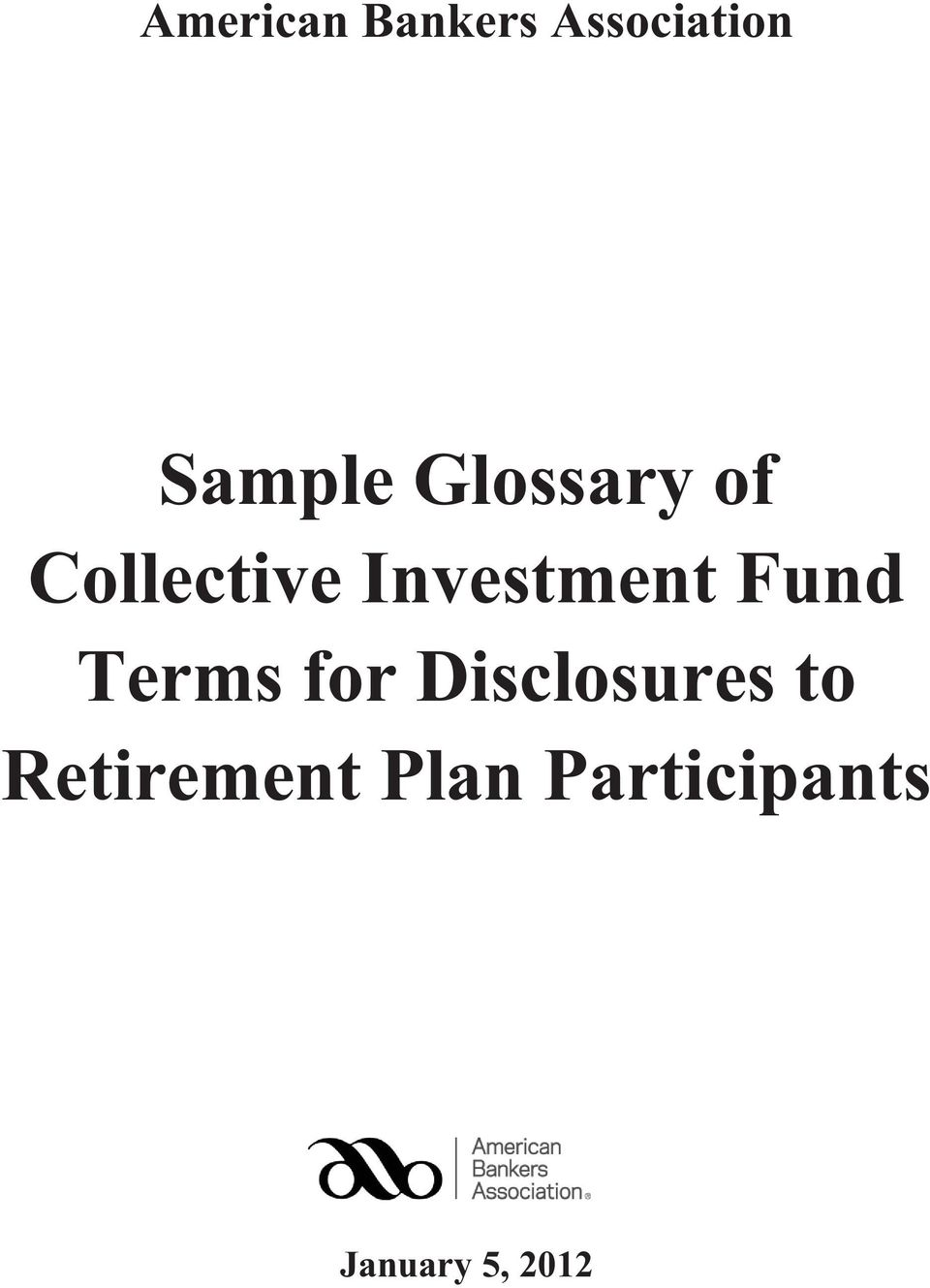 Fund Terms for Disclosures to