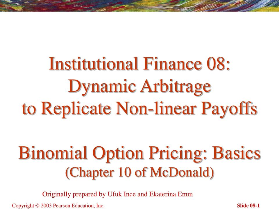 Replicate Non-linear Payoffs Binomial Option Pricing: