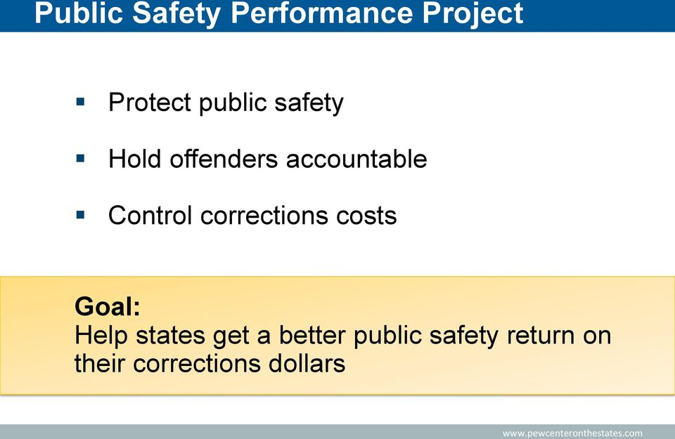 Control corrections costs Goal: Help states get