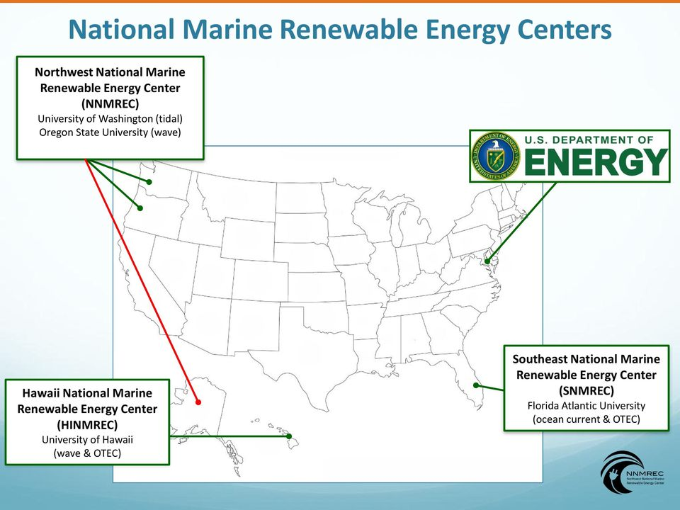 Marine Renewable Energy Center (HINMREC) University of Hawaii (wave & OTEC) Southeast