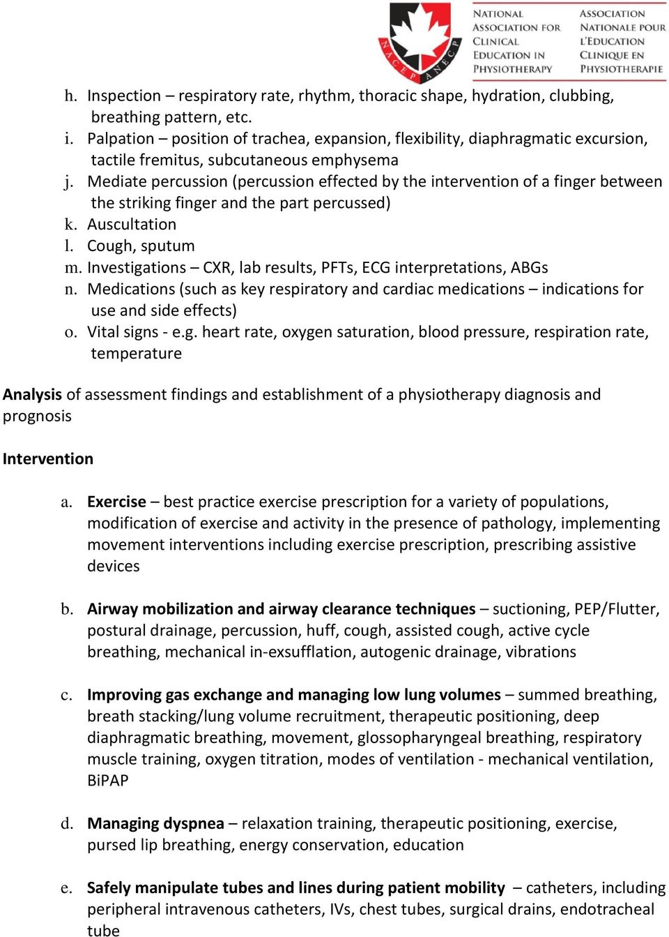 A Checklist of Key Cardio-Respiratory Interventions for Entry-Level