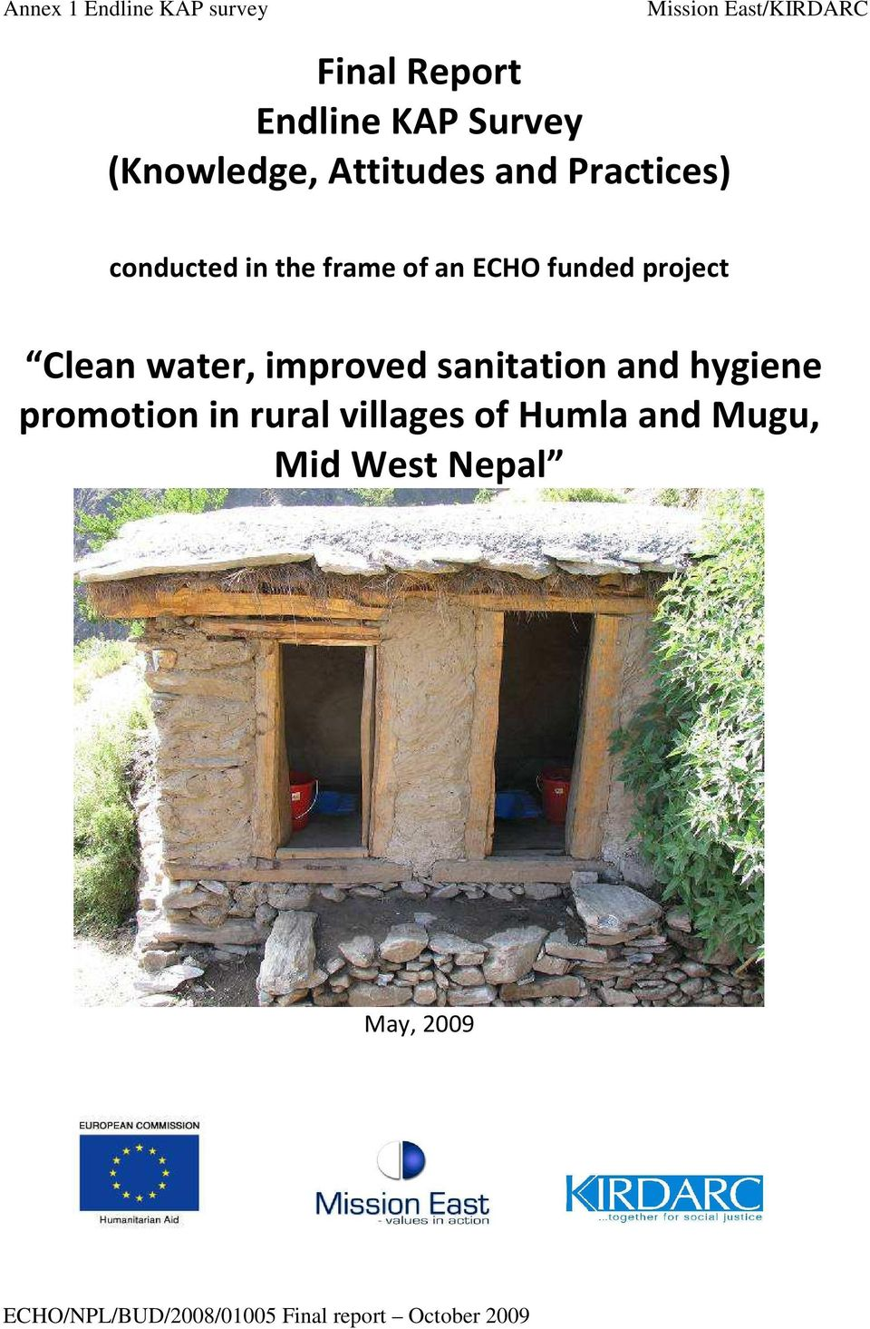 project Clean water, improved sanitation and hygiene promotion in rural villages