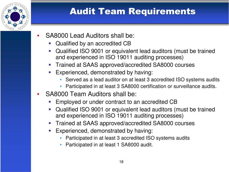 certification or surveillance audits.