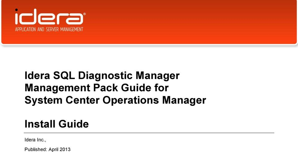 Center Operations Manager Install