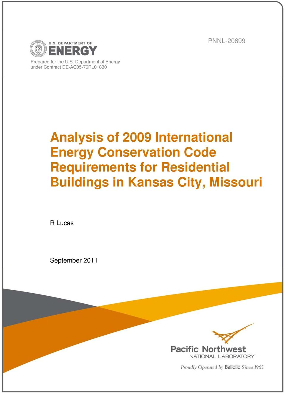 Analysis of 2009 International Energy Conservation Code
